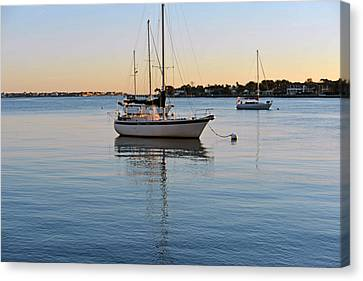 Canvas Print featuring the photograph Harbor Sunrise by Anthony Baatz