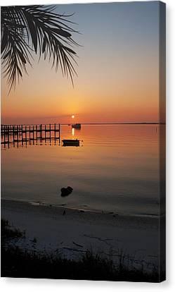 Harbor Sunrise Canvas Print by Regina  Williams