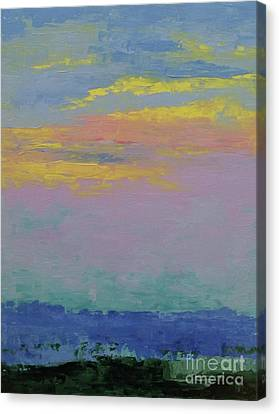 Harbor Sunset Canvas Print by Gail Kent