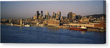 Harbor With The City Skyline, Montreal Canvas Print by Panoramic Images