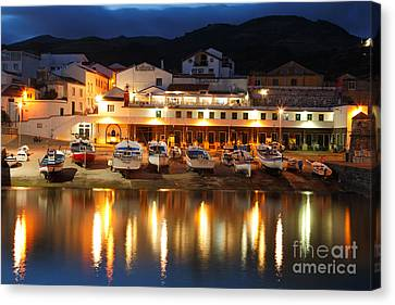 Harbour At Twilight Canvas Print by Gaspar Avila