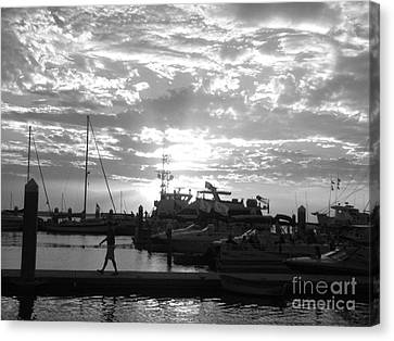 Harbour Clouds Canvas Print by WaLdEmAr BoRrErO