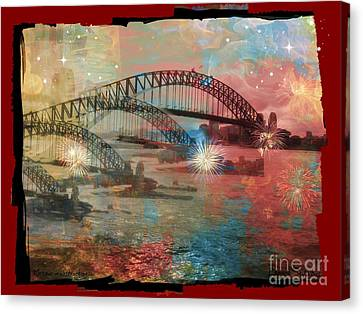 Canvas Print featuring the photograph Harbour In Abstraction by Leanne Seymour