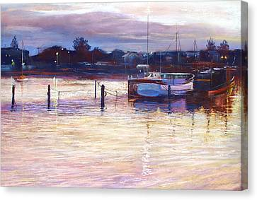 Harbour Lights - Apollo Bay Canvas Print by Lynda Robinson