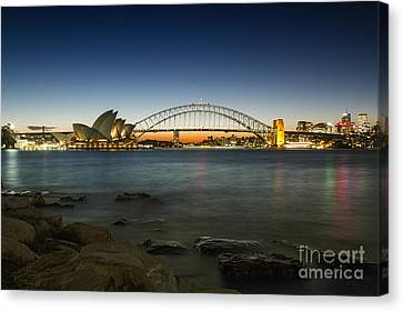 Harbour Night Canvas Print