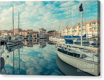 Harbour Of Grado Canvas Print by Hannes Cmarits