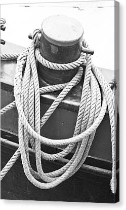 Harbour Rope Canvas Print by Tom Gowanlock