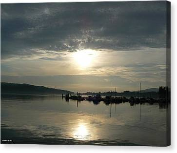 Harbour Sunset Canvas Print by Barbara St Jean