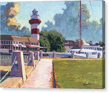 Harbour Town Light Canvas Print by David Randall
