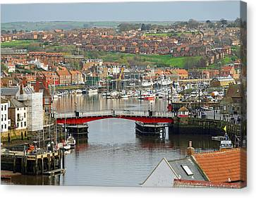 Harbour View - Whitby Canvas Print by Rod Johnson