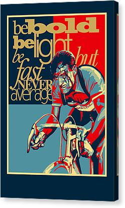 Bicycle Canvas Print - Hard As Nails Vintage Cycling Poster by Sassan Filsoof
