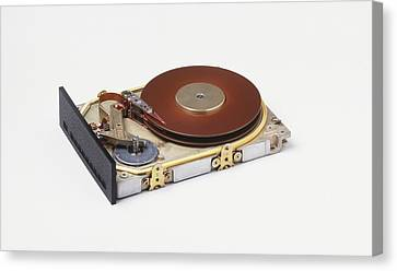 Hard Disc From A Computer Canvas Print by Dorling Kindersley/uig