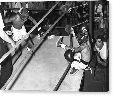 Hard Punch Canvas Print by Retro Images Archive