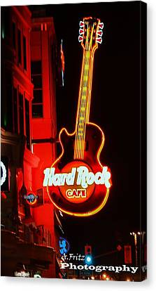 Canvas Print featuring the photograph Hard Rock Cafe' by Al Fritz