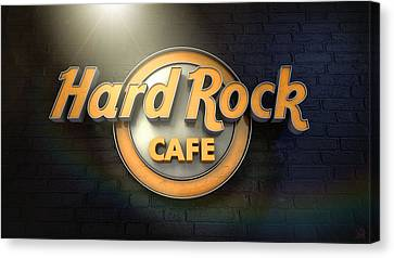 Hard Rock Cafe Logo Canvas Print
