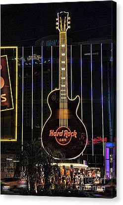 Hard Rock Cafe Canvas Print by Peter Dang