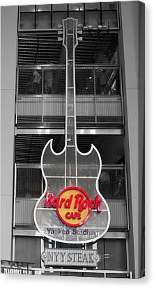 Hard Rock Cafe Sign Full  Canvas Print by Aurelio Zucco