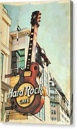 Hard Rock Guitar Canvas Print
