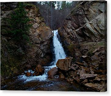 Hardy Falls Peachland Bc Canvas Print by Guy Hoffman