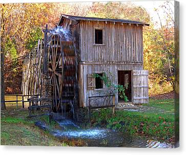 Hardy Mill In Autumn Canvas Print by Ed Cooper