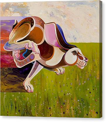 Hare Borne Canvas Print by Bob Coonts
