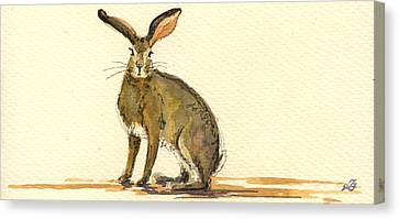 Hare  Canvas Print by Juan  Bosco