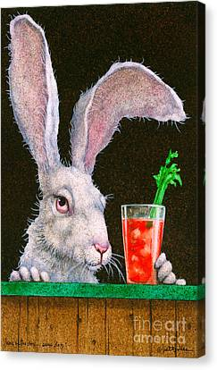 Bloody Mary Canvas Print - Hare Of The Dog...sans Dog... by Will Bullas