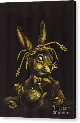 March Hare Canvas Print - Hare by Suzette Broad