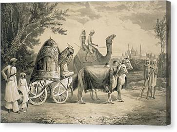 Harem Carriage Of The King Of Delhi Canvas Print by A. Soltykoff
