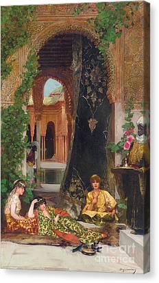 Harem Women Canvas Print by Jean Joseph Benjamin Constant