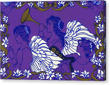 Hark The Herald Angels Sing Canvas Print by Kimberly McSparran