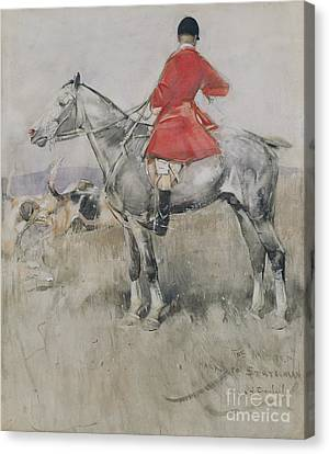Hark To Statesman Canvas Print by Joseph Crawhall