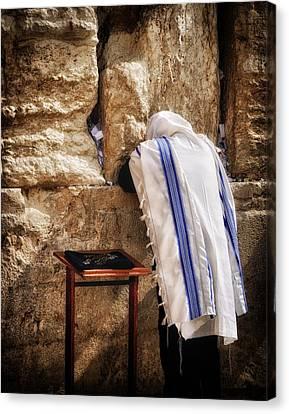 Harken Unto My Prayer O Lord Western Wall Jerusalem Canvas Print