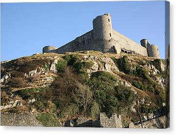 Canvas Print featuring the photograph Harlech Castle by Christopher Rowlands