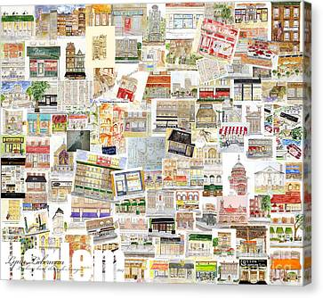 Harlem Collage Of Old And New Canvas Print