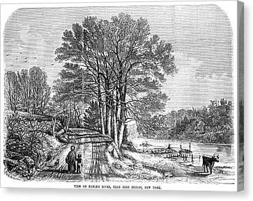 Harlem High Bridge, 1854 Canvas Print by Granger
