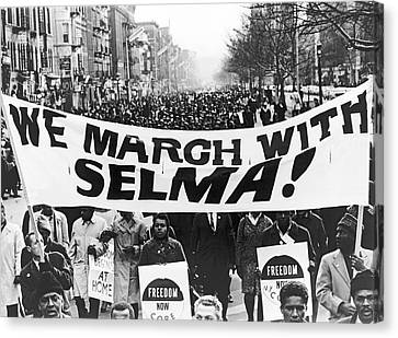 Harlem Supports Selma Canvas Print