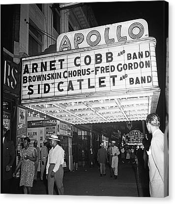 Harlem's Apollo Theater Canvas Print by Underwood Archives Gottlieb