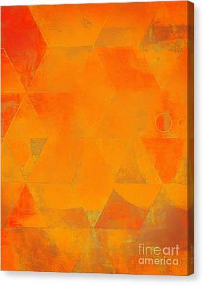 Harlequin Orange Peel Canvas Print by Lonnie Christopher