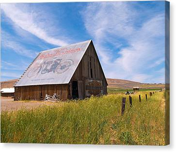 Harley Barn Canvas Print
