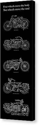 Harley Davidson - 1907 To 1921 Canvas Print by Pablo Franchi