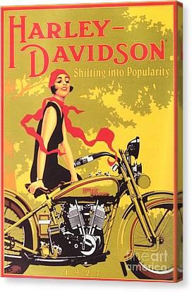 Harley Davidson 1927 Poster Canvas Print