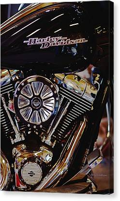 Harley Davidson Abstract Canvas Print