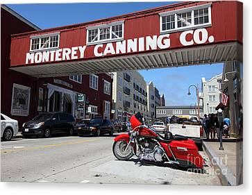 Harley Davidson At Monterey Cannery Row California 5d25024 Canvas Print by Wingsdomain Art and Photography