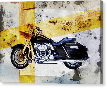 Harley Davidson Canvas Print by David Ridley