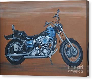 Harley Davidson Dyna Canvas Print by Sally Rice