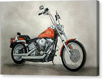 Harley Davidson Canvas Print by Heather Gessell
