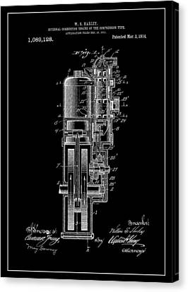Combustion Canvas Print - Harley Davidson Internal Combustion Engine by Dan Sproul