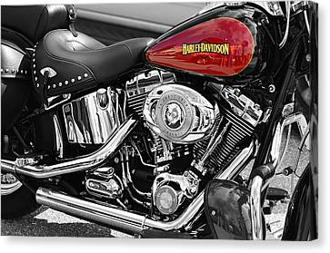 Selecting Canvas Print - Harley Davidson by Laura Fasulo