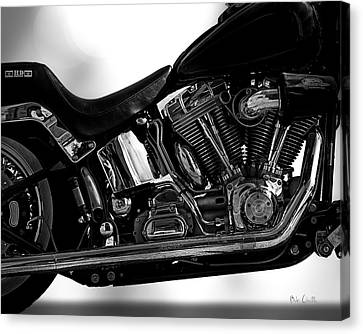 Harley Davidson  Military  Canvas Print by Bob Orsillo